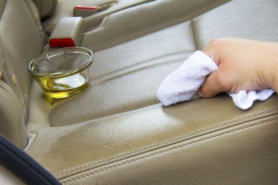beyaz deri koltuk temizleme detayları