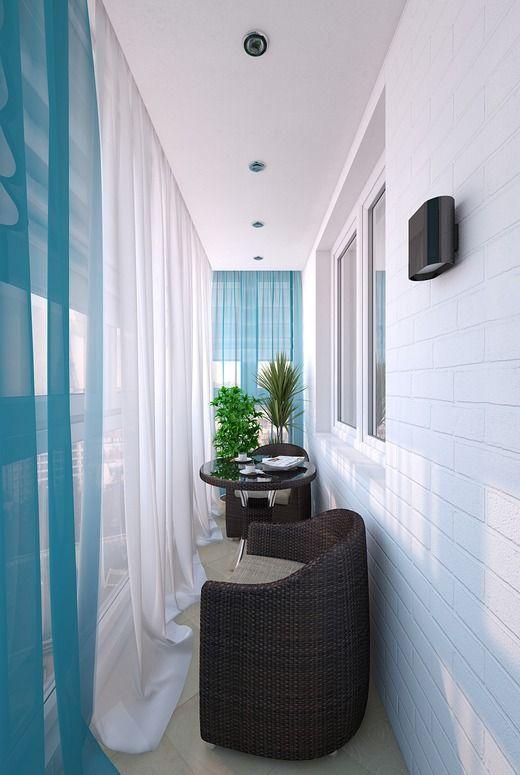 Cam Balkon İçin renkli tül Perde