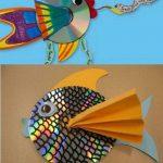 cd'den balık nasıl yapılır resimli