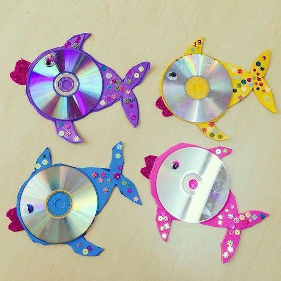 cd'den balık yapılışı