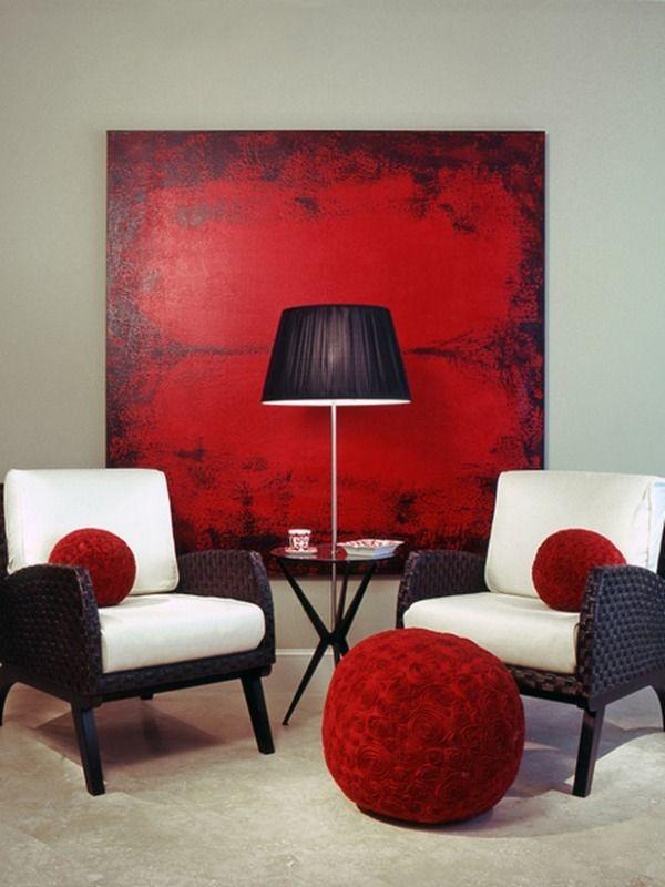Dekorasyonda Kırmızı İle Uyumlu Renkler