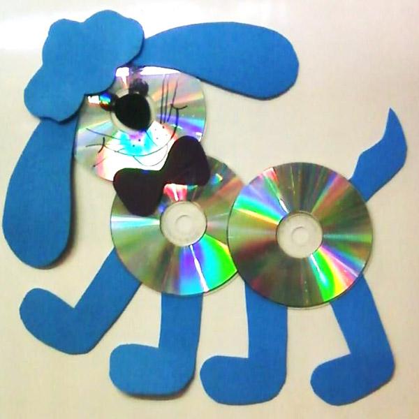 eski cd den köpek yapımı
