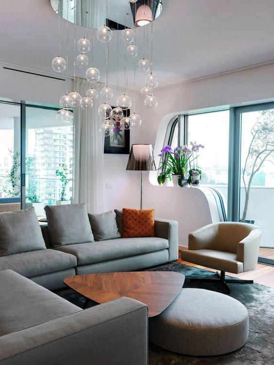 modern oturma odası avizeleri