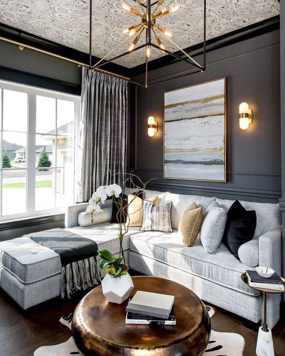 retro living room chandeliers