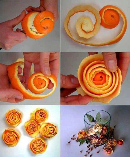 sigara içilen ev temizliği için portakal kabuğu