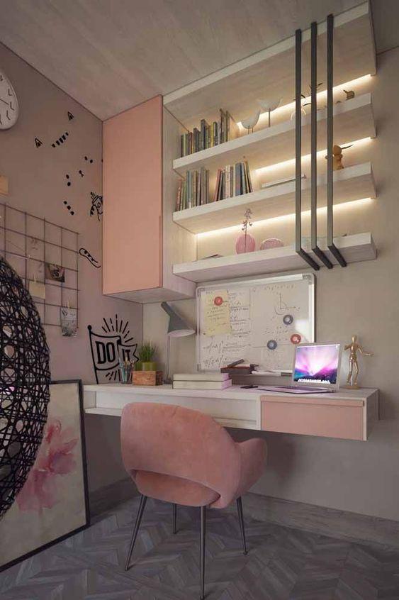 2019Dikkat dağıtmayan çalışma odası dekorasyonları