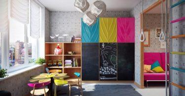 Çocuk Odaları İçin Eğlenceli Kara Tahtalar