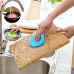 Mutfakta Küflenmiş Tahta tamizliği .,