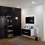 2019 Banyo Ve Mutfakta Siyah Duvar Kullanımı